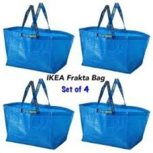 IKEA FRAKTA Reusable Bags, Large (SET of 4), NWT